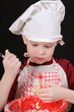 Boy with dough Royalty Free Stock Photos