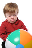 Boy with down syndrome stock image