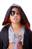 Boy with dracul disguise. Boy with disguise in white Royalty Free Stock Images