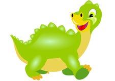 Boy dragon goes. Small green boy dragon goes royalty free illustration