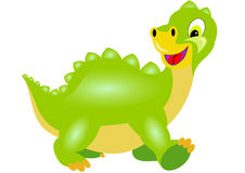 Boy dragon goes. Small green boy dragon goes Royalty Free Stock Photos