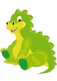 Boy dragon smiles. Small green boy dragon smiles royalty free illustration