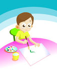 Boy draw Stock Photo