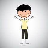 Boy draw. Design , vector illustration Stock Photography