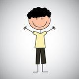 Boy draw Stock Photography