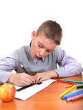 Boy is Drawing Stock Images