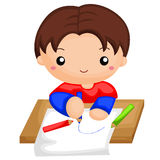 Boy drawing a picture. A little boy drawing a picture vector illustration