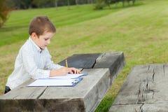 Boy drawing Stock Photo