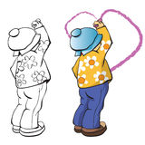 The boy draws heart Royalty Free Stock Image