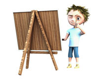 Boy draws a picture Royalty Free Stock Images