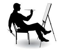 Boy draws Stock Image