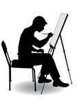 Boy draws Royalty Free Stock Photos