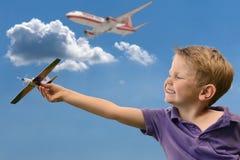 Boy dream of pilot Stock Photography