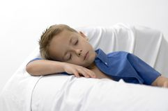 Boy / dream / white. Focus on the face Royalty Free Stock Photography