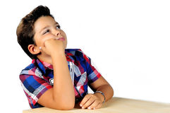 Boy with dreamer air Royalty Free Stock Image