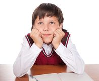 The boy dreams in a class Royalty Free Stock Images