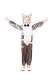 Boy dressed as cat Stock Photos