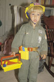 A boy dressed as a construction worker, Washington D.C. Stock Image