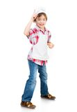 Boy dressed as a cook Stock Photography