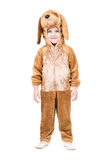 Boy dressed as dog. Isolated Royalty Free Stock Image