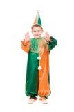 Boy dressed as harlequin Stock Photo