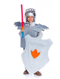 Boy dressed as a Knight Stock Images