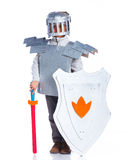 Boy dressed as a Knight Stock Image