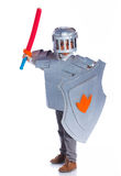 Boy dressed as a Knight Stock Photo
