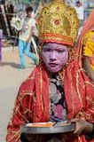 Boy dressed as Lord Krishna Pushkar cattle fair ,India Stock Photos