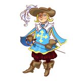 Boy dressed as musketeer for  Christmas Stock Photography
