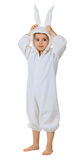 Boy dressed as a rabbit standing Royalty Free Stock Image
