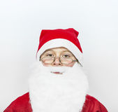 Boy dressed as Santa Claus Royalty Free Stock Images