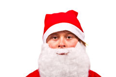 Boy dressed as Santa Claus Stock Photography