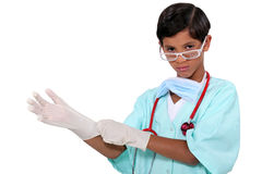 Boy dressed as surgeon Royalty Free Stock Photography