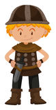 Boy dressed as viking soldier. Illustration Stock Photography