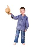 A boy dressed checked shirt Royalty Free Stock Photo