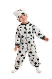 Boy   dressed in Dalmatian  suit Royalty Free Stock Images