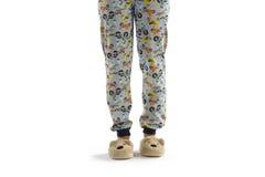 Boy dressed in pyjama isolated on white Stock Photo