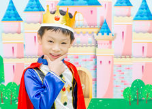 Boy is dressed in suit of a prince Royalty Free Stock Images