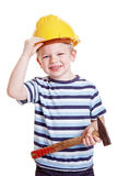 Boy dressed up as construction Royalty Free Stock Images