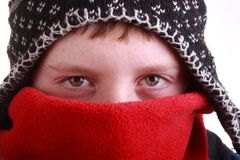 Boy dressed warm for winter Stock Photos