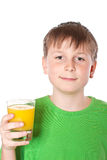 Boy drinking juice Royalty Free Stock Photography