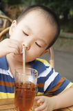 Boy drinking Royalty Free Stock Photography