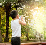 Boy is drinking water Royalty Free Stock Photos