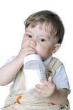 Boy drinks milk Stock Photography