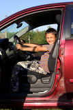 Boy driver in car Stock Photo
