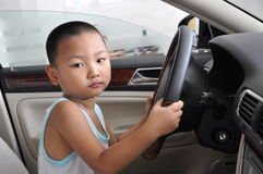 Boy driving royalty free stock images