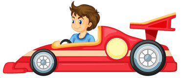 A boy driving a car Stock Images