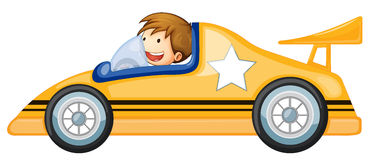 A boy driving a car Stock Photos