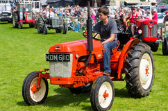 Boy driving tractor at Cartmel Show 2011 Stock Photos